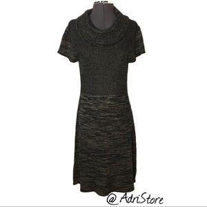 Calvin Klein Cowl Neck Marled Sweater Dress M